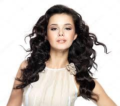<b>Beautiful</b> brunette <b>woman</b> with <b>beauty long curly</b> hair. — Stock Photo ...