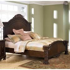 furniture t north shore: ashley furniture north shore queen panel bed in dark brown
