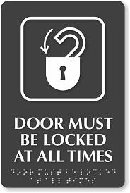 Lock Door Sign For Pinterest