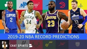 2019-20 NBA Record Predictions: Lakers, Clippers, Warriors ...