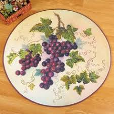 grapes grape themed kitchen rug: perfect in your vineyard kitchen or anywhere in your home this beautiful rug features a colorful bunch of purple grapes against a cream background