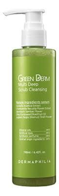 Купить <b>натуральный гель</b>-<b>скраб для лица</b> Green Derm Multi Deep ...