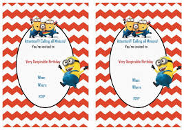 despicable me birthday invitations birthday printable despicable me birthday invitations