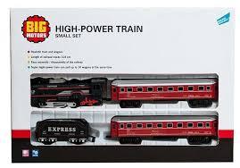 <b>Big Motors</b> Стартовый набор «<b>Железная дорога</b> с 3 вагонами ...