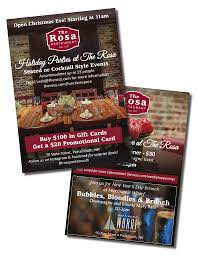 custom brochure and flyer printing services in portsmouth nh custom flyer printing example rosa restaurant