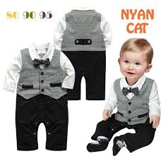 Retail Spring <b>Autumn Baby Boys Rompers</b> Gentleman Bow Vest ...