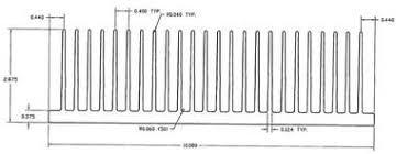 "10.080"" <b>Wide</b> Extruded <b>Aluminum Heatsink</b> - HeatsinkUSA"