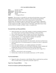 sample resume for machine operator position sample resume for machinist machinist resume objective