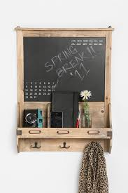 clock work free waterwall wall mount this vintage wall mount features a washable chalkboard with graphics o