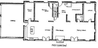 Colonial house plan has bedrooms  offices  and post  amp  beam    In a few words  if you need space  our long colonial house plan will fill your needs   a cost  effective floor plan