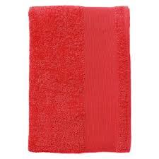 <b>Полотенце махровое Island</b> Medium, красное | Типография «Арт ...