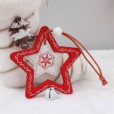 <b>Christmas</b> Hanging <b>Ornament Tree</b> Bell <b>Star Wooden Pendant</b> ...