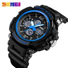 Skmei 3 Time <b>Multifunction Sport Men</b> Quartz Digital <b>Watch</b> 50m ...