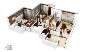 Axis Corner   If you are going to build your own house  then   If you are going to build your own house  then planning your house   D Floor Plan Rendering you can get the best layout of your dream home