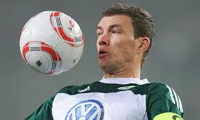 Edin Dzeko of Wolfsburg is a top target for Manchester City in the transfer window. Photograph: Stuart Franklin/Bongarts/Getty Images - Edin-Dzeko-007