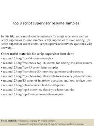 topscriptsupervisorresumesamples lva app thumbnail jpg cb
