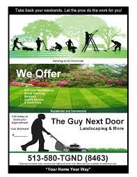 the guy next door landscaping more llc
