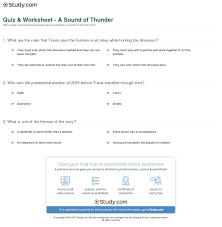a sound of thunder essay comparing quota sound of thunderquot and a sound of thunder essay worksheet a sound of thunder studycom worksheet a sound of thunder