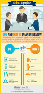 dos and don ts in an interview infographics shine com