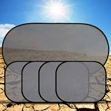 <b>5PCS</b> New Black Pinstripe Mesh Sun Visor <b>Set Window Screen</b> ...
