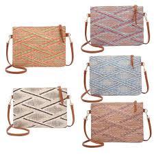 Handmade Rattan <b>Woven</b> Round Handbag Vintage <b>Tassel Straw</b> ...