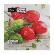 <b>Салфетки Paper</b>+<b>design</b> 3-х слойные томаты (1002146520 ...