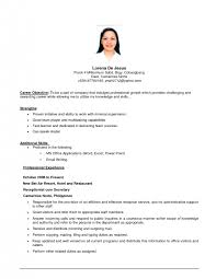 cover letter career objectives resume examples career in resumes for assistant manager experiencecareer objective statements for resume objective statments