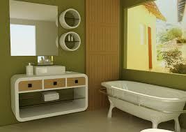 bathroom decor ideas unique decorating: interior decorating bathrooms green wall bathroom theme standing bathtub bathroom vanity storage full size