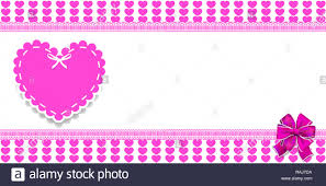 Cute template with pink <b>hearts</b> pattern, space for text and <b>big lace</b> ...
