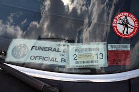 photos show locations and strategies for illegal construction is it a funeral director or an iron worker if it is a construction worker he or she has found an inventive way to get around parking regulations