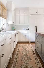 set cabinet full mini summer: neutral kitchen with butcher block counter kitchen island neutral beige and gray turkish runner rug