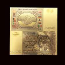1pcs Color 1 Million Euro Banknote Gold Foil ... - Vova