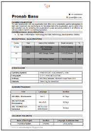 over 10000 cv and resume samples with free download b tech it resume format for mca student