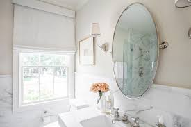 tilting mirror bathroom vignette design oval pivot mirror view full size