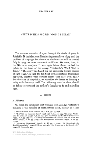 nietzsche s word god is dead springer inside