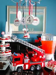 Firefighter Cupcake Decorations The Journey Of Parenthood Firetruck Party Decorations
