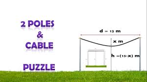 two poles and cable puzzle tricky puzzle interview question two poles and cable puzzle tricky puzzle interview question