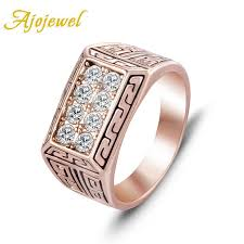 Size 8-12 <b>Ajojewel Brand</b> Quality CZ Men's Jewelry <b>Fashion</b> White ...
