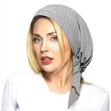 Gift For <b>Muslim Women</b> Headscarf Hats Soft Elastic Flower Hijab ...