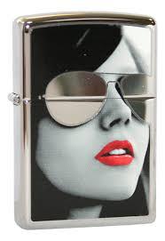 <b>Зажигалка</b> бензиновая <b>Sunglasses High</b> Polish Chrome ...