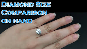 Diamond Size comparison on hand