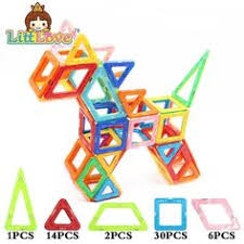 70 Magnetic Stick & 30 Metal beads Creativity Building ...