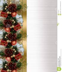 suggestions online images of christmas invitation backgrounds christmas border pine cones and bow royalty stock images image christmas in invitations templates