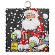 <b>Christmas</b> Eve <b>Santa Print</b> Mini Charm – Lou Dee's Floral and Gifts