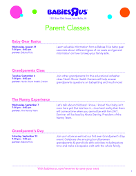 babies r us the nanny experience   northshore health centersseminar flyer    page