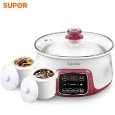 Automatic <b>Electric</b> Stew Pot with White Ceramic Liners for Soup ...