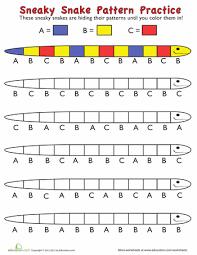 Kindergarten Patterns Worksheets & Free Printables | Education.comWorksheet. Snake Coloring Patterns