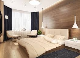 bedroom paneling ideas: tracking lamp bedroom chandelier nature modern wood paneling carpet bedcover cushion bedroom chandelier tracking lamp recessed ceilling light floor lamp curtain window house plant decorations photo modern wood paneling