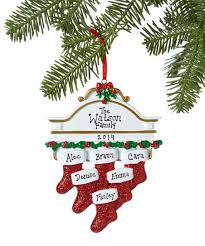 Treasured Ornaments Six-<b>Stocking Family Mantel Personalized</b> ...