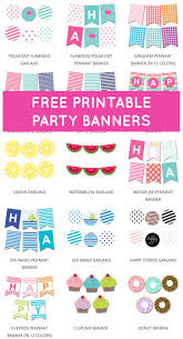 best ideas about printable banner printable make your own party banners our printable party banners our party banners are easy to make just edit print and cut
